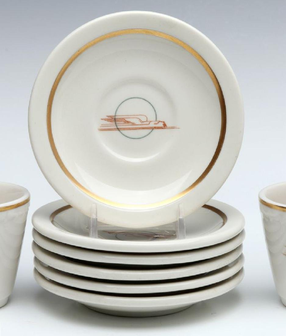 SIX UNION PACIFIC RR DEMITASSE CUP AND SAUCERS - 4
