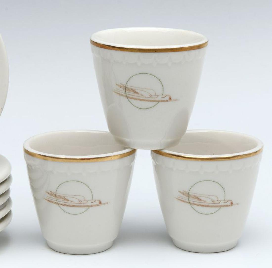 SIX UNION PACIFIC RR DEMITASSE CUP AND SAUCERS - 5