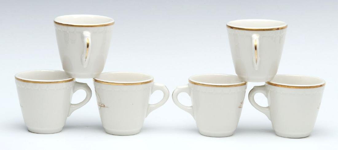 SIX UNION PACIFIC RR DEMITASSE CUP AND SAUCERS - 6