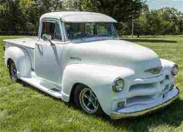 A CUSTOMIZED 1955 CHEVROLET 3100 FIVE WINDOW TRUCK
