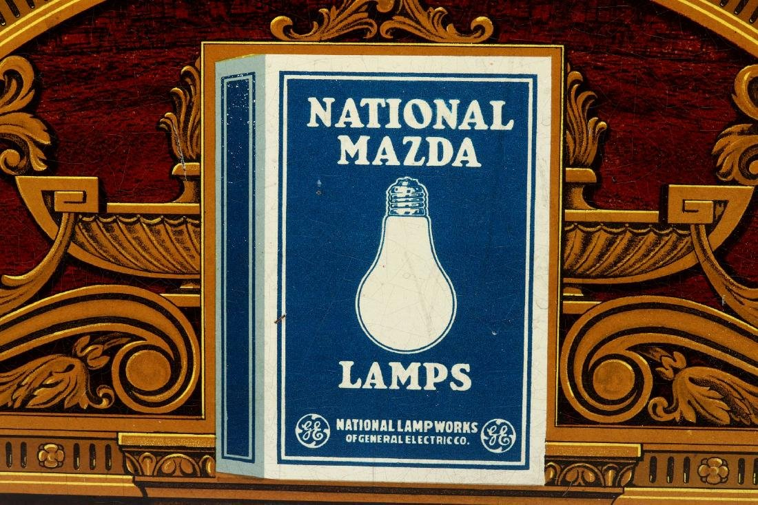 A MAZDA NATIONAL LAMPS LIGHTED ADVERTISING DISPLAY - 3