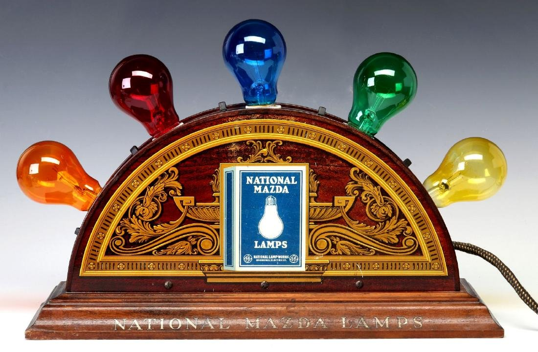 A MAZDA NATIONAL LAMPS LIGHTED ADVERTISING DISPLAY - 9