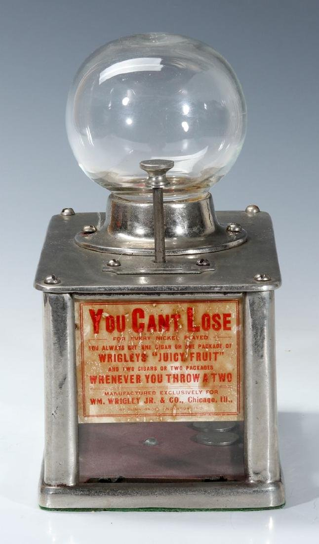 A 1906 'CAN'T LOSE' WRIGLEY GUM NICKEL DICE GAME - 3