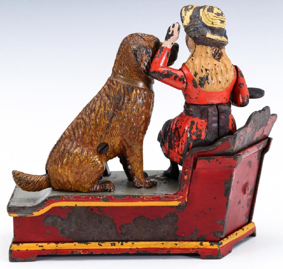 A 19TH C. SPEAKING DOG CAST IRON MECHANICAL BANK - 7