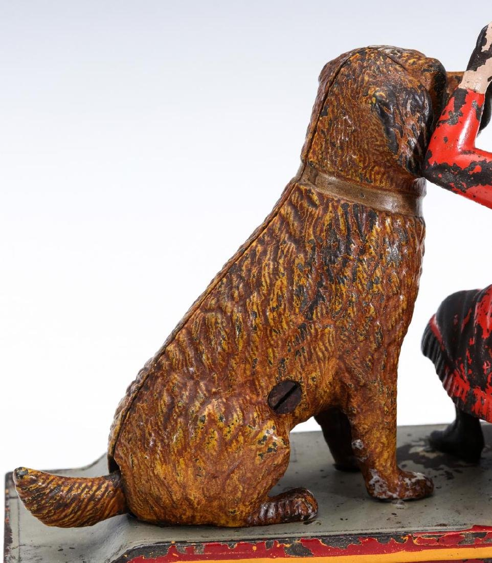 A 19TH C. SPEAKING DOG CAST IRON MECHANICAL BANK - 9