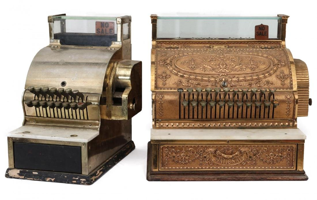 TWO EARLY 2OTH CENT CASH REGISTER MODELS FROM NCR