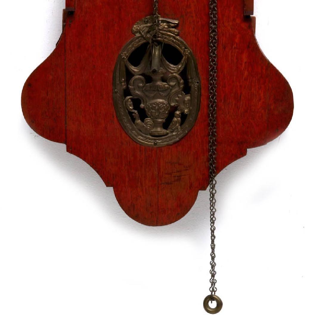 A LARGE DUTCH FRIESIAN-TYPE CLOCK W/ELABORATE DIAL - 4