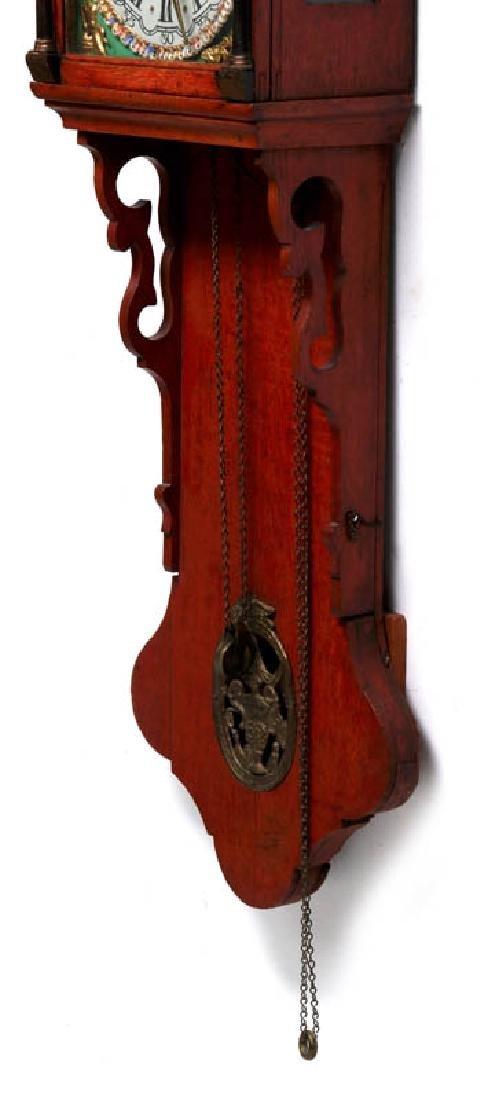 A LARGE DUTCH FRIESIAN-TYPE CLOCK W/ELABORATE DIAL - 7