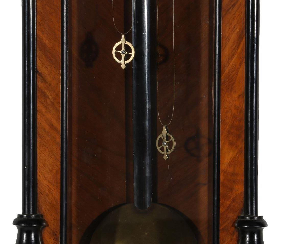 A 19TH CENTURY TWO WEIGHT VIENNA REGULATOR - 3