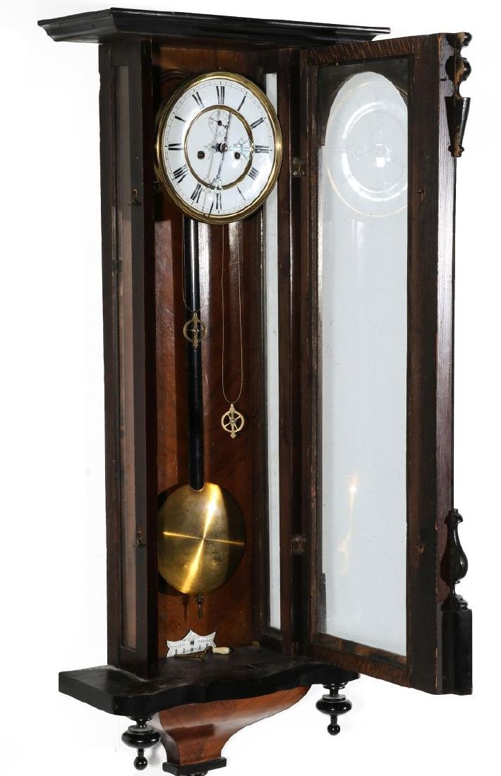 A 19TH CENTURY TWO WEIGHT VIENNA REGULATOR - 7