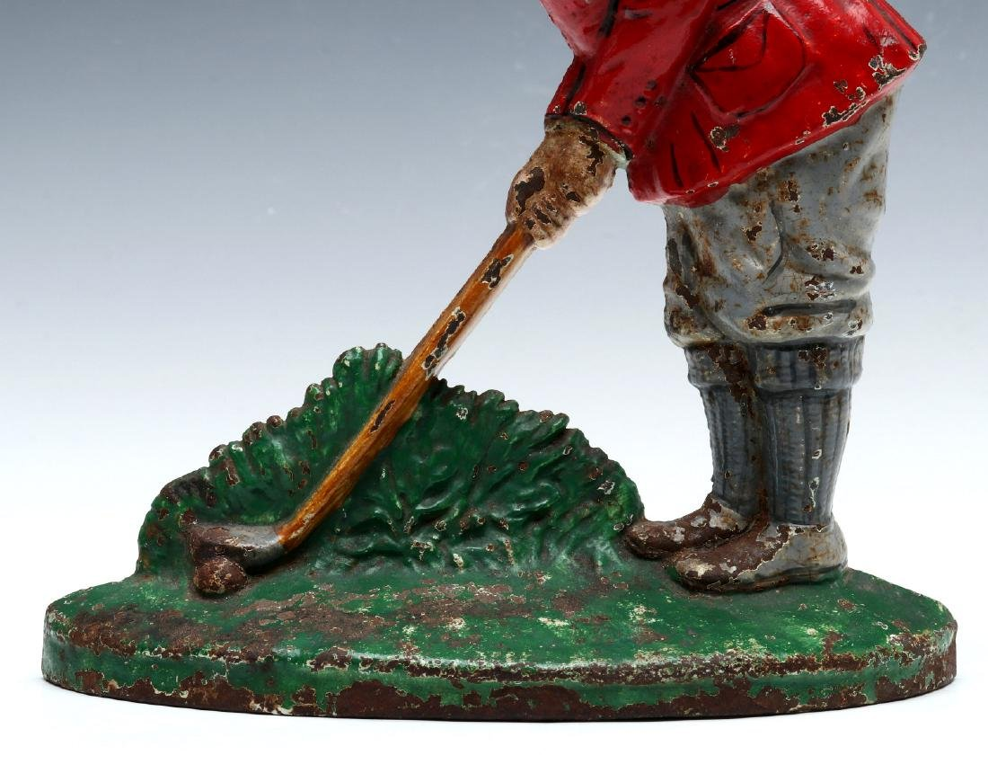 A HUBLEY PUTTING GOLFER CAST IRON DOORSTOP #34 - 5