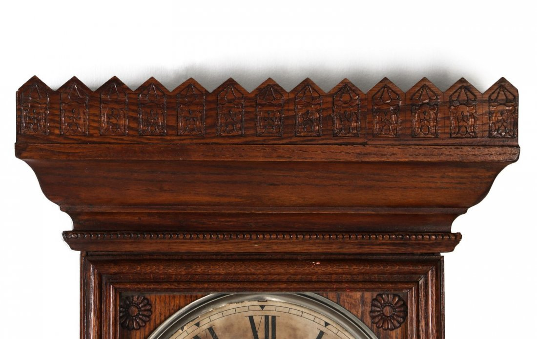 A WM. L. GILBERT CO. REGULATOR WALL CLOCK NO. 14 - 2