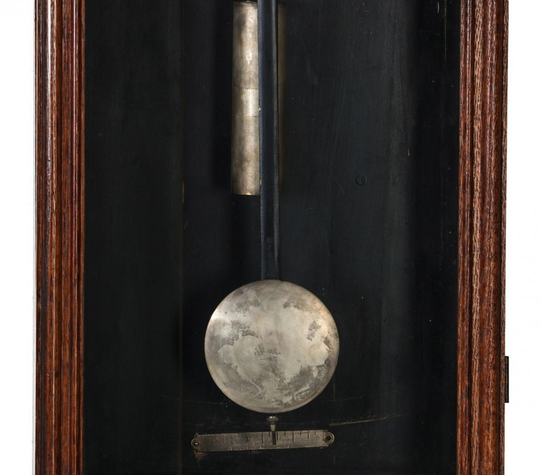 A WM. L. GILBERT CO. REGULATOR WALL CLOCK NO. 14 - 4