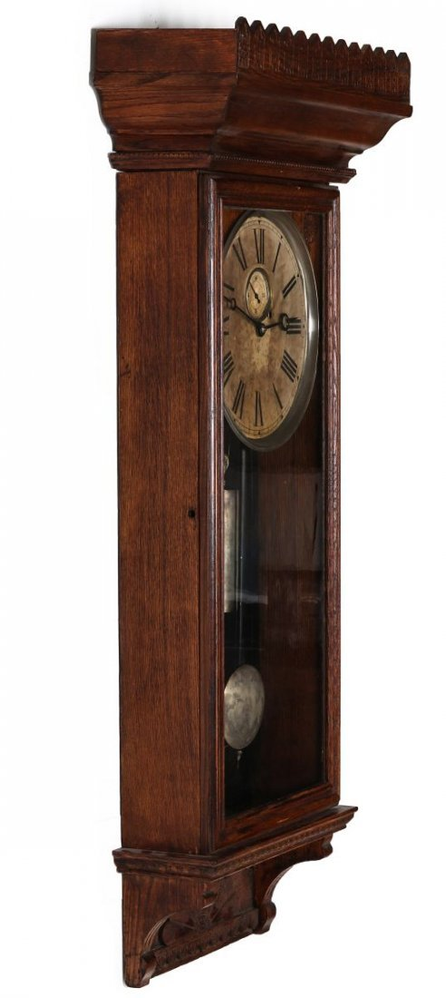 A WM. L. GILBERT CO. REGULATOR WALL CLOCK NO. 14 - 7