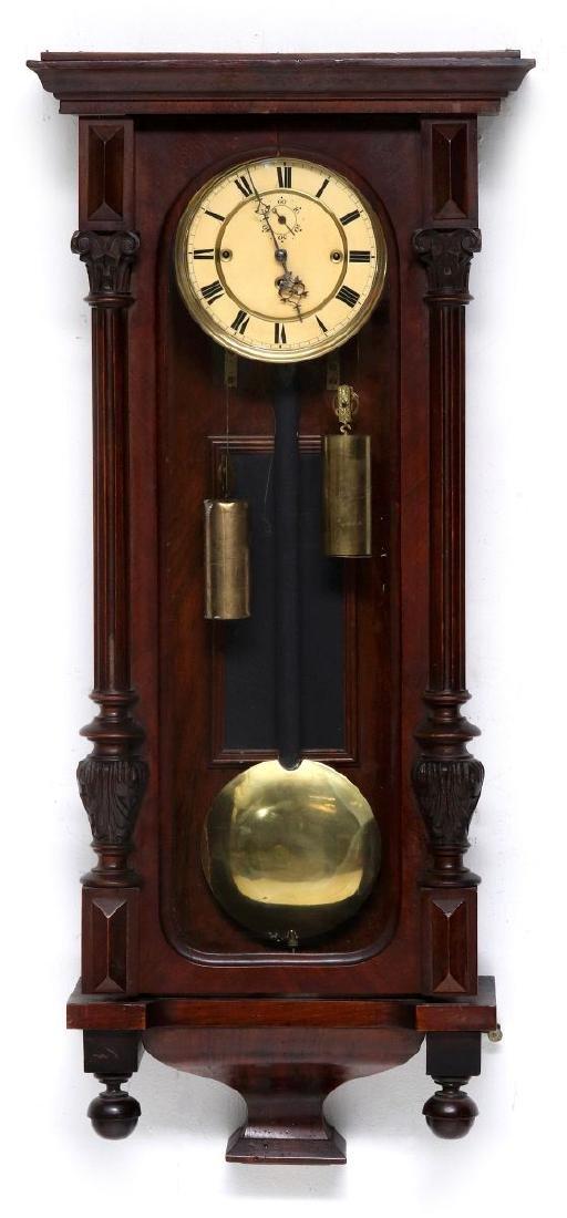 A TWO-WEIGHT VIENNA REGULATOR WALL CLOCK
