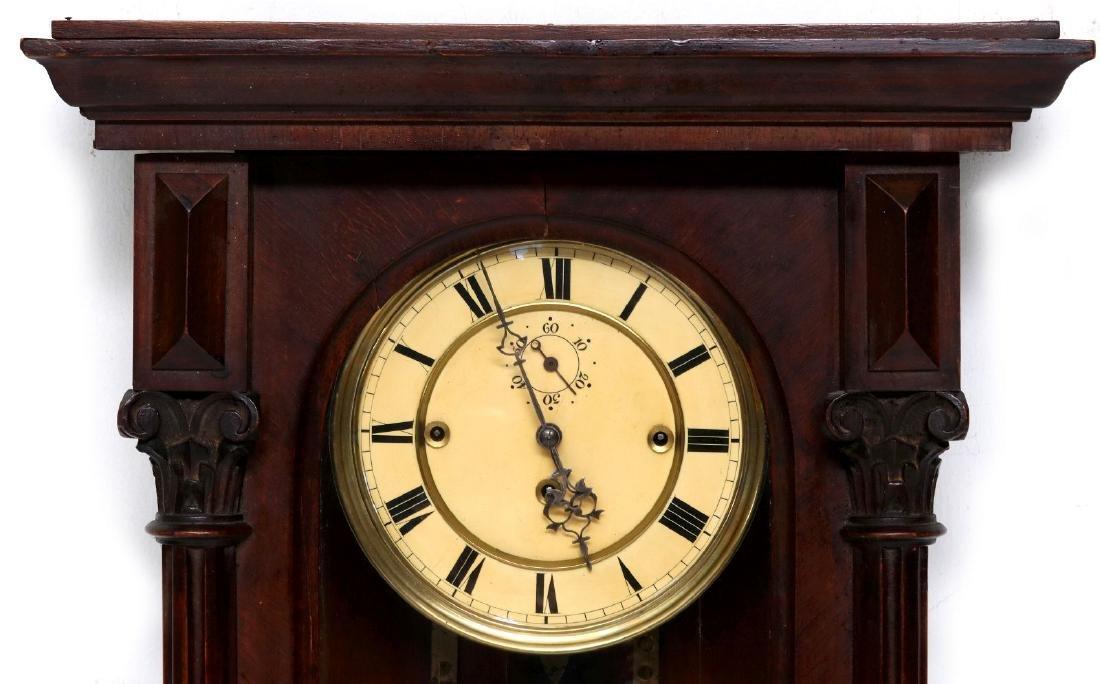 A TWO-WEIGHT VIENNA REGULATOR WALL CLOCK - 2