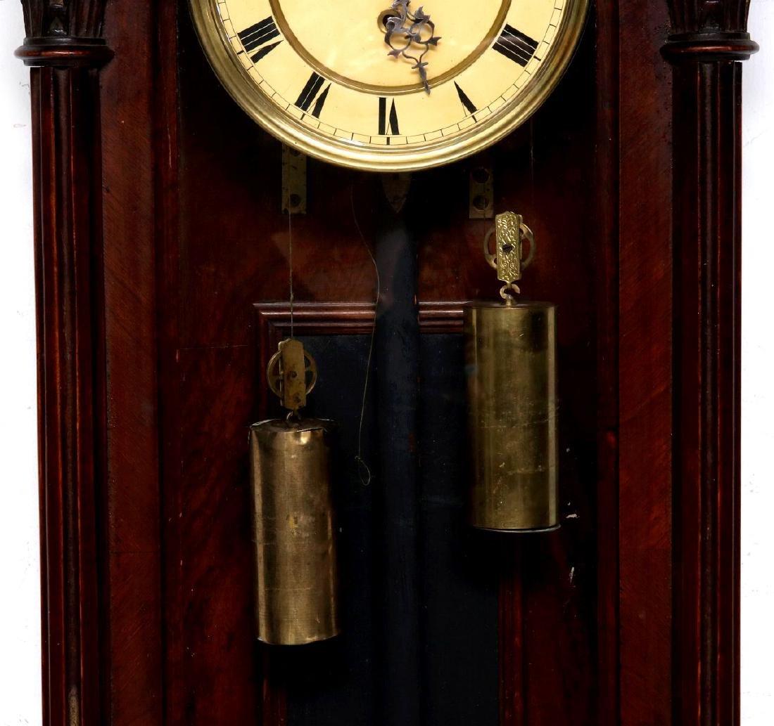 A TWO-WEIGHT VIENNA REGULATOR WALL CLOCK - 3