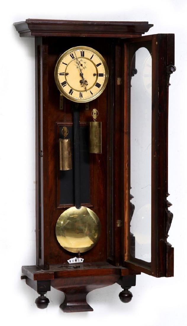 A TWO-WEIGHT VIENNA REGULATOR WALL CLOCK - 5