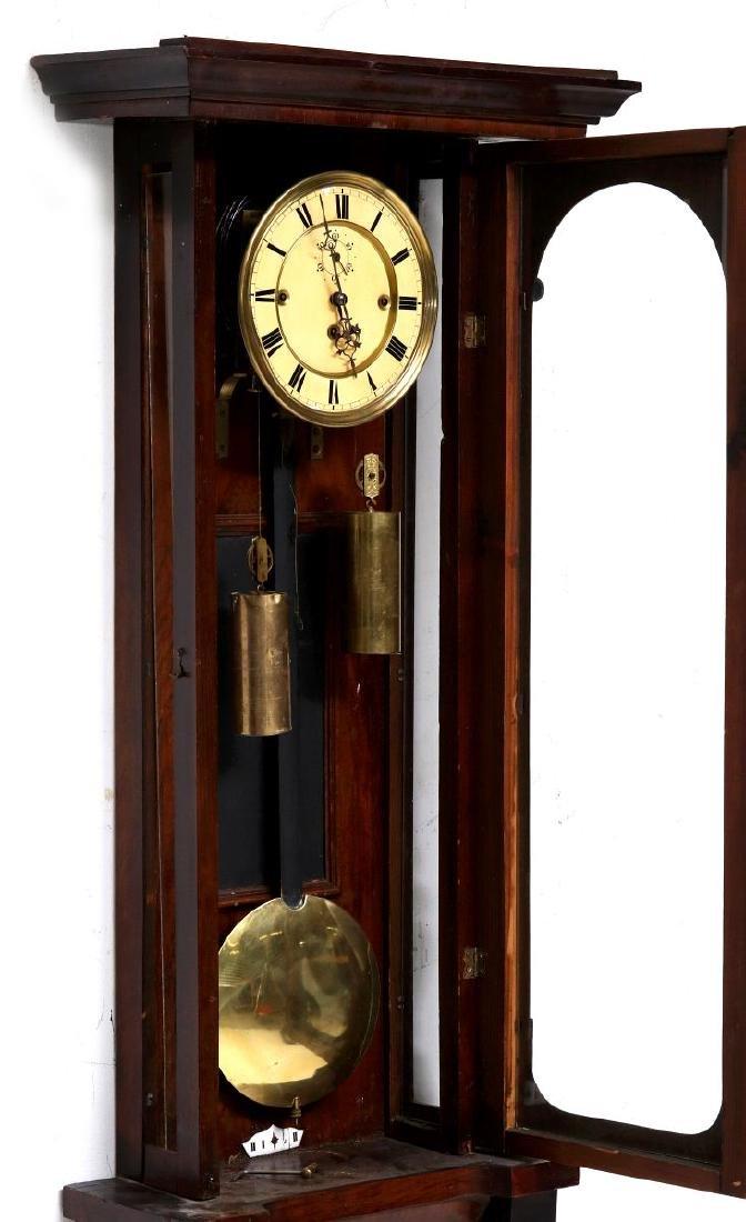 A TWO-WEIGHT VIENNA REGULATOR WALL CLOCK - 6
