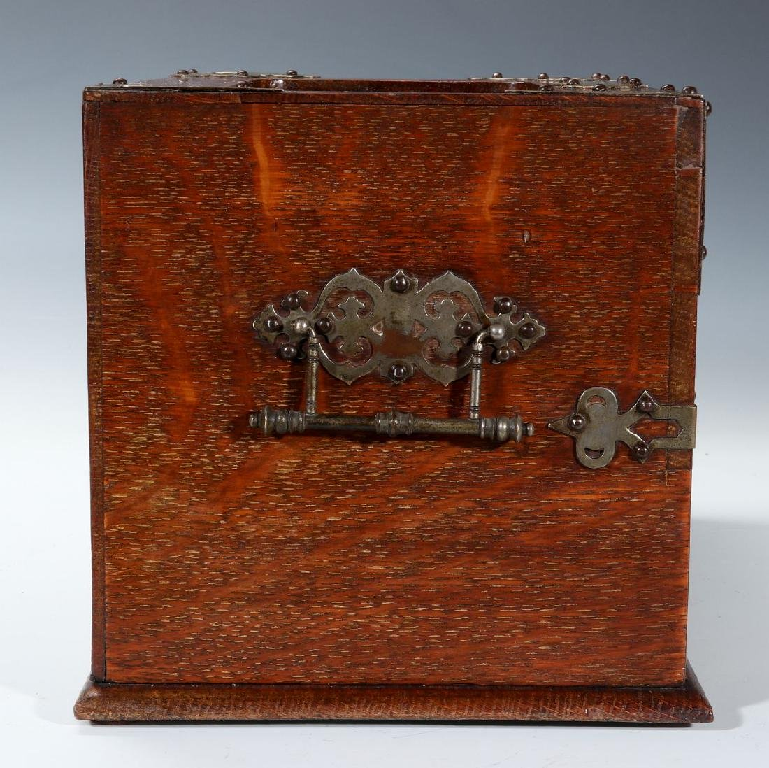 A NICKEL BOUND ENGLISH OAK STATIONARY BOX C 1890 - 4