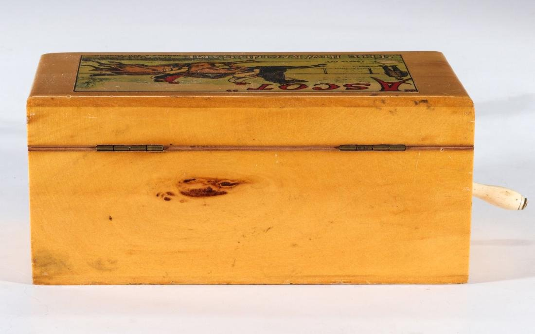 A 19TH C. BRITISH HAND OPERATED HORSE RACE GAME - 10
