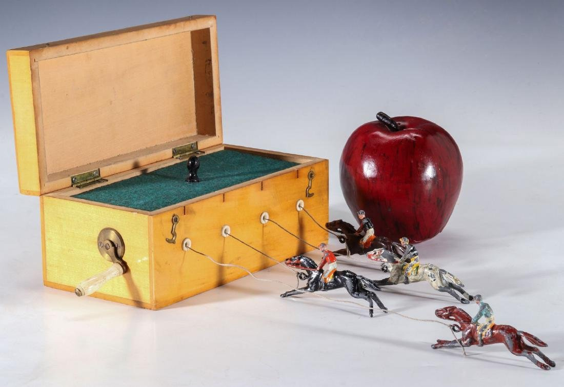 A 19TH C. BRITISH HAND OPERATED HORSE RACE GAME - 9