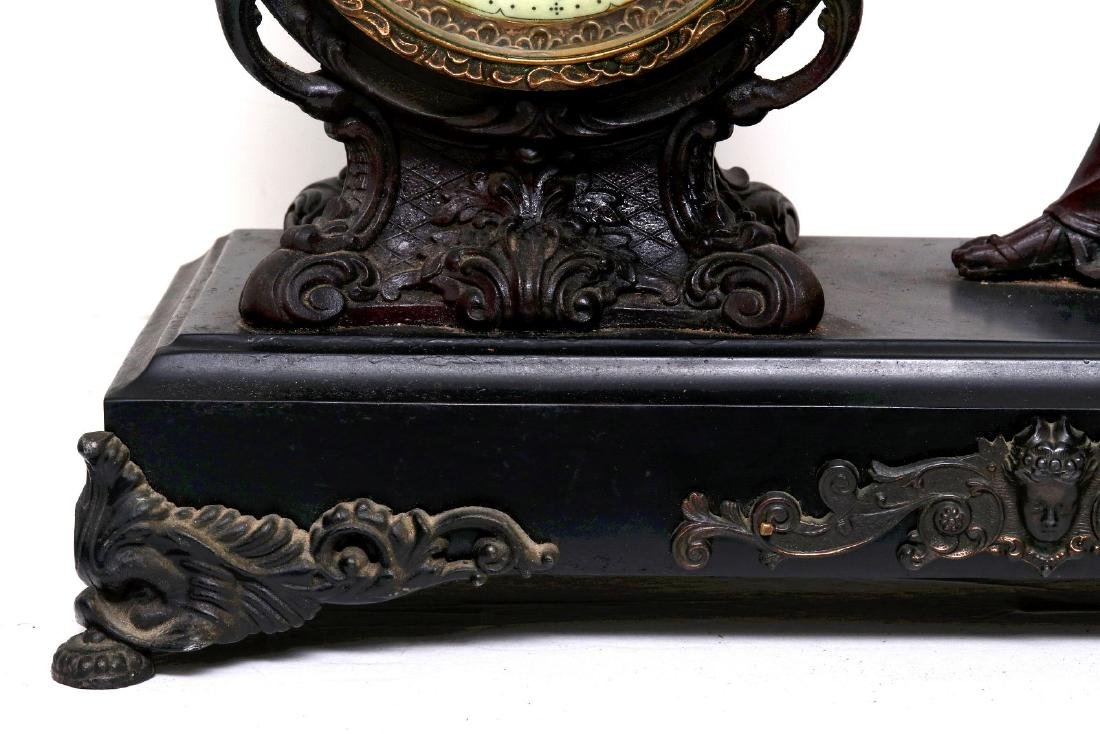 A NEW HAVEN SEATED STATUE CLOCK - 4