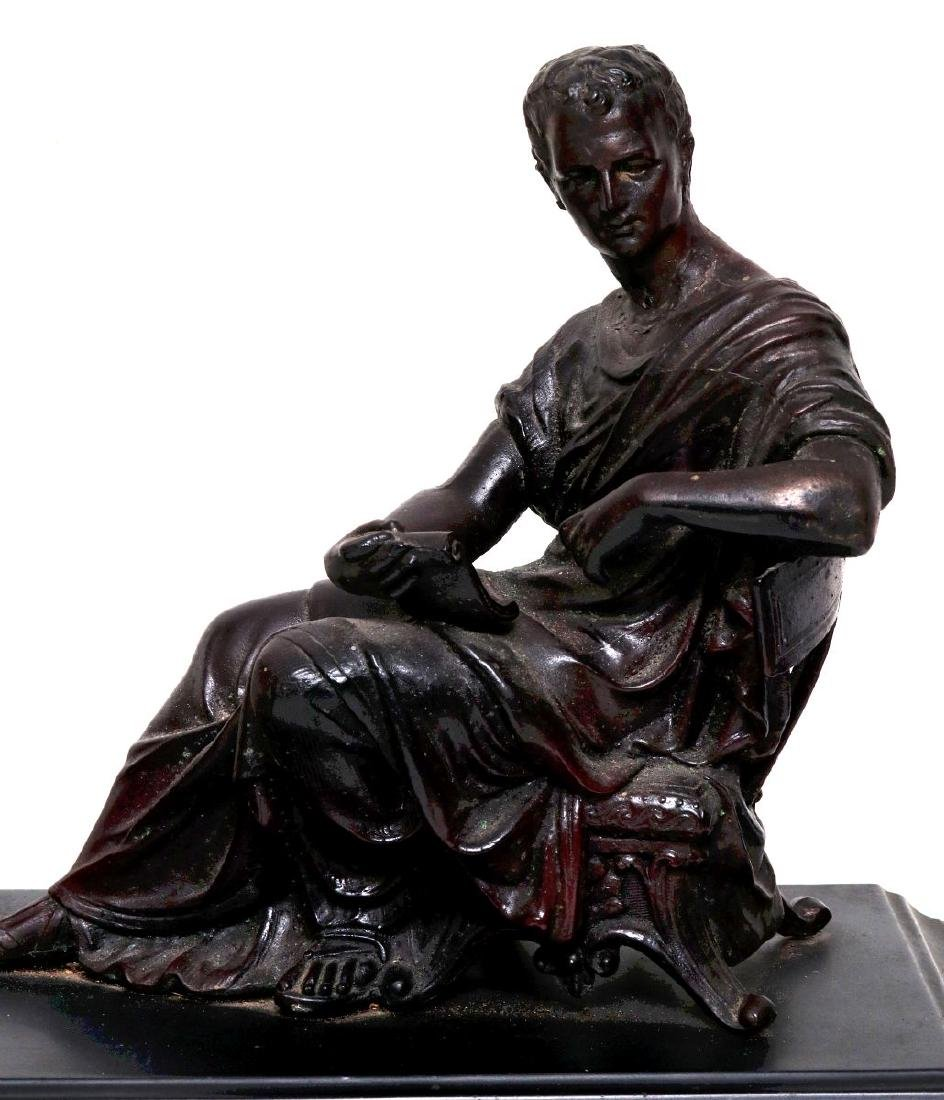 A NEW HAVEN SEATED STATUE CLOCK - 6