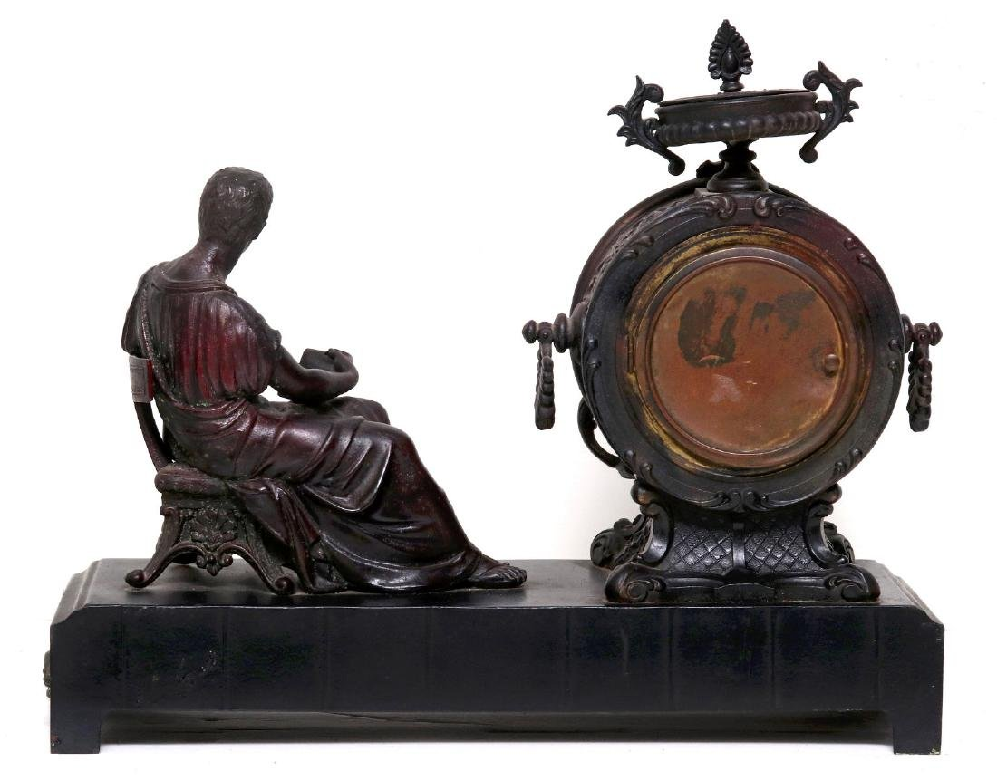 A NEW HAVEN SEATED STATUE CLOCK - 8
