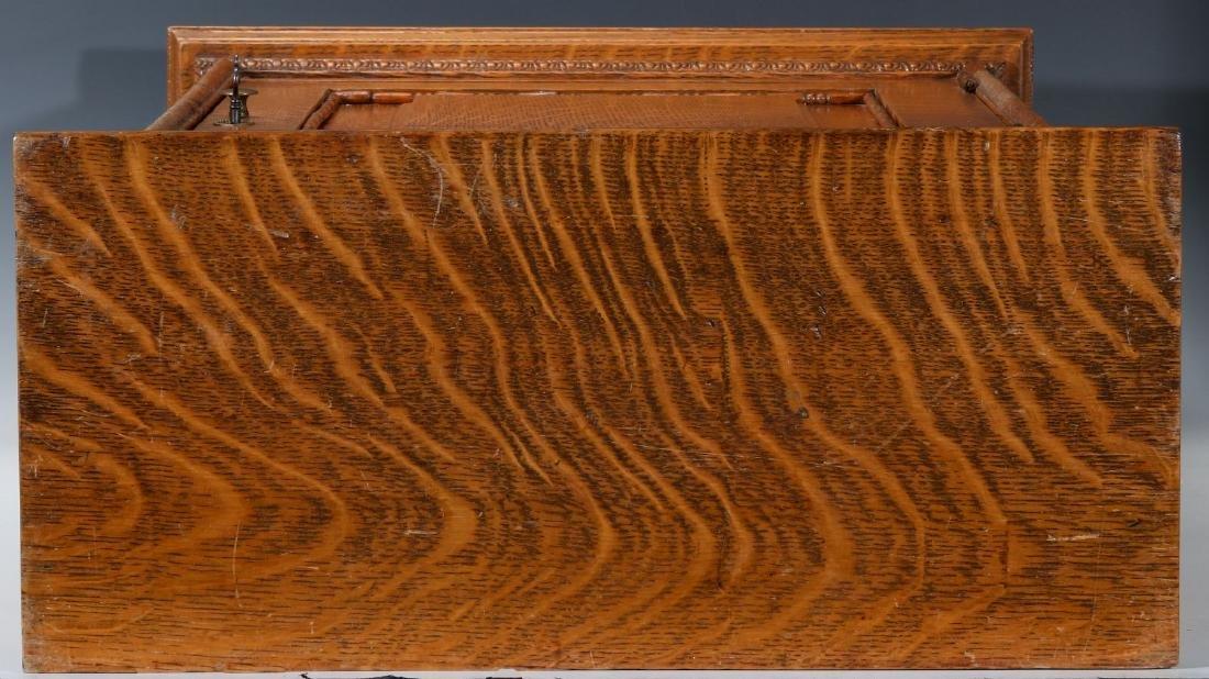 A HANDSOME OAK TABLETOP SHAVING CABINET C. 1900 - 10