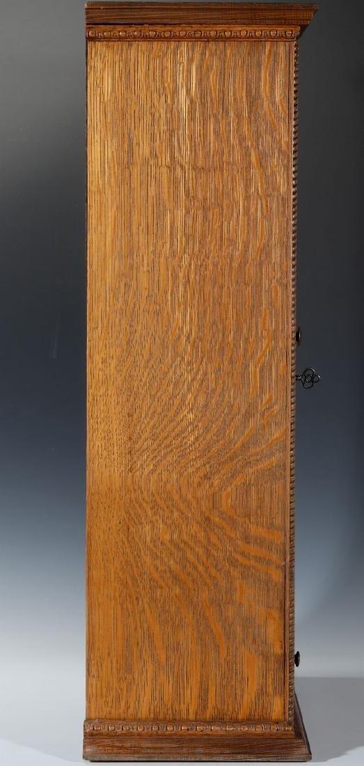 A HANDSOME OAK TABLETOP SHAVING CABINET C. 1900 - 5