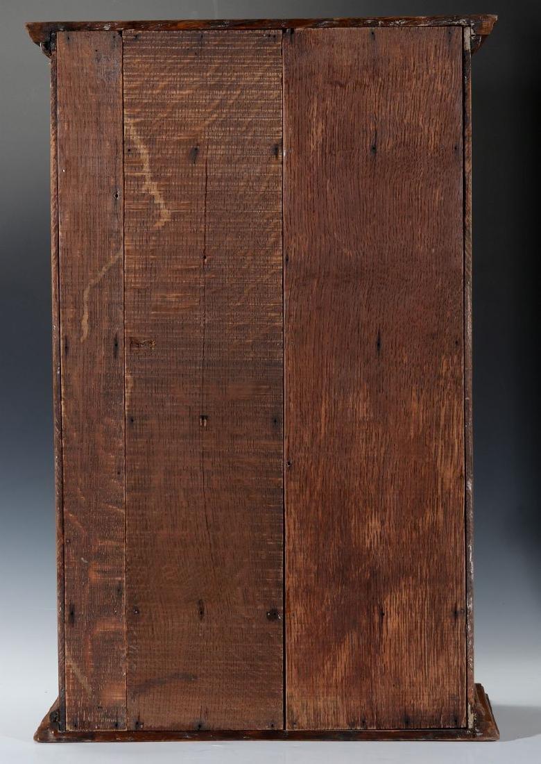 A HANDSOME OAK TABLETOP SHAVING CABINET C. 1900 - 7