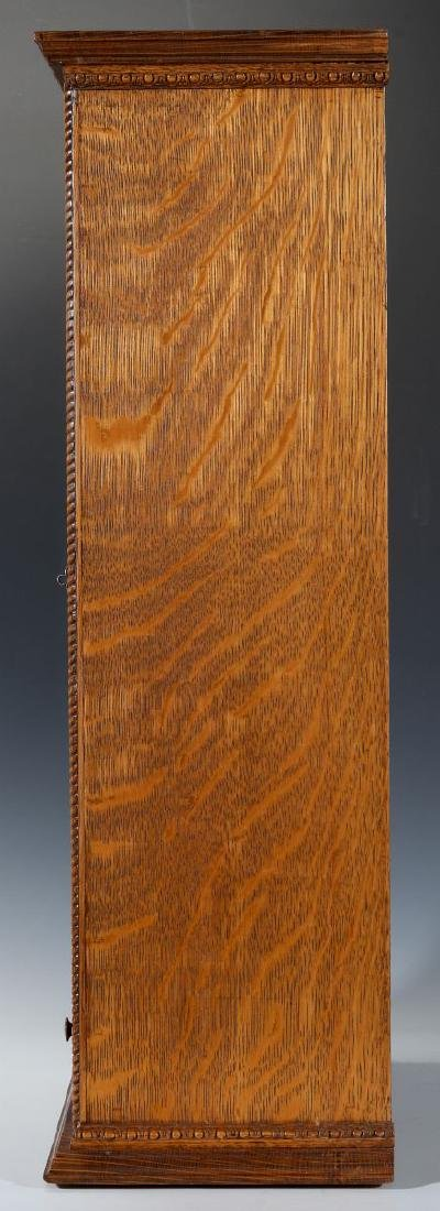 A HANDSOME OAK TABLETOP SHAVING CABINET C. 1900 - 8