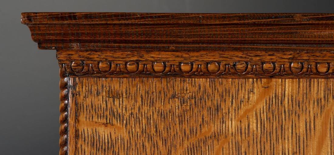 A HANDSOME OAK TABLETOP SHAVING CABINET C. 1900 - 9
