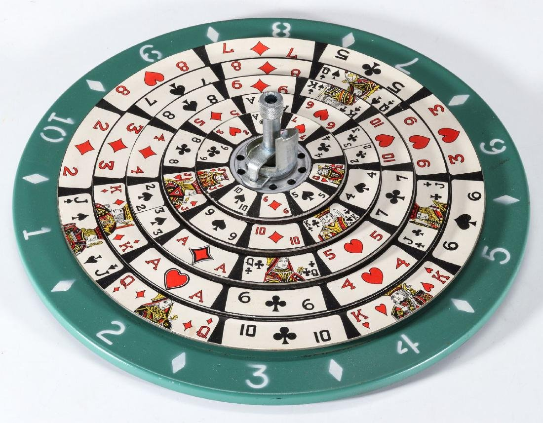 VINTAGE SPIN / STOP PLAYING CARD ROULETTE GAME
