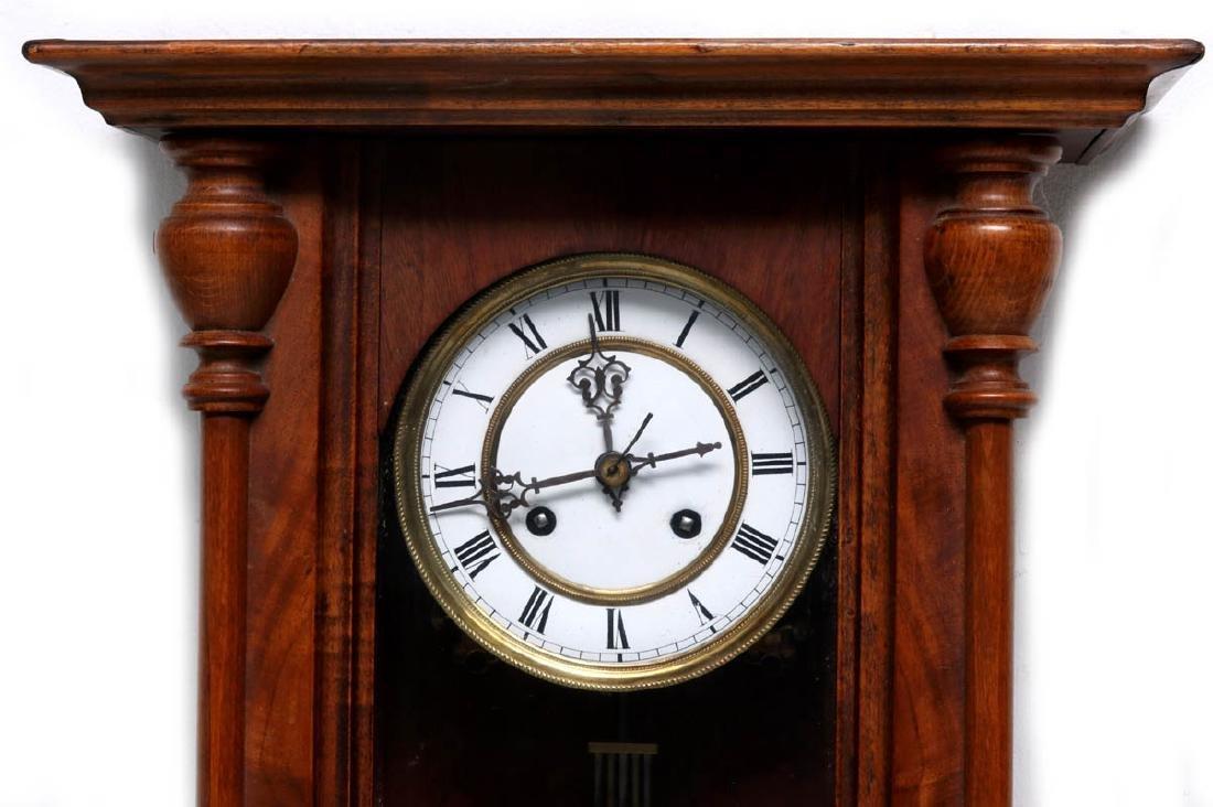A VIENNA EIGHT-DAY REGULATOR WALL CLOCK - 2
