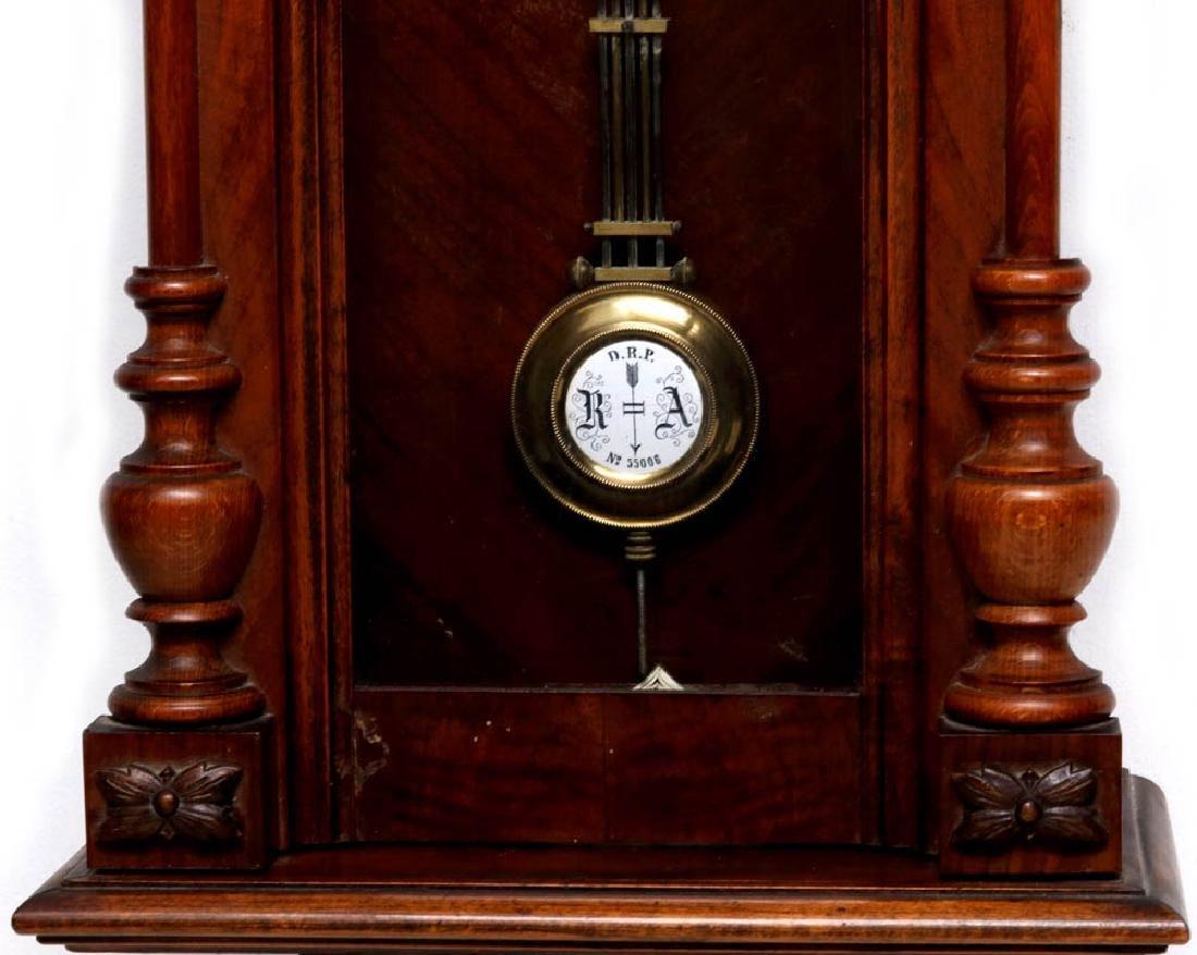 A VIENNA EIGHT-DAY REGULATOR WALL CLOCK - 3