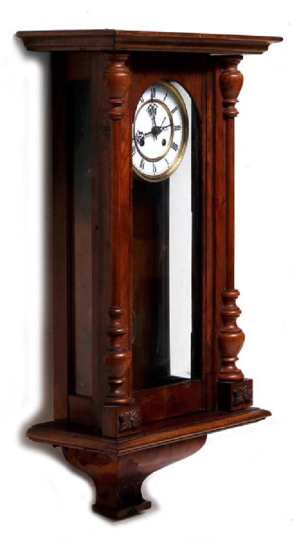 A VIENNA EIGHT-DAY REGULATOR WALL CLOCK - 5