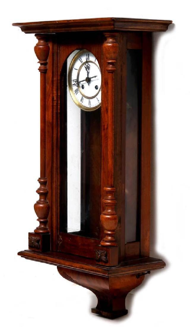 A VIENNA EIGHT-DAY REGULATOR WALL CLOCK - 6