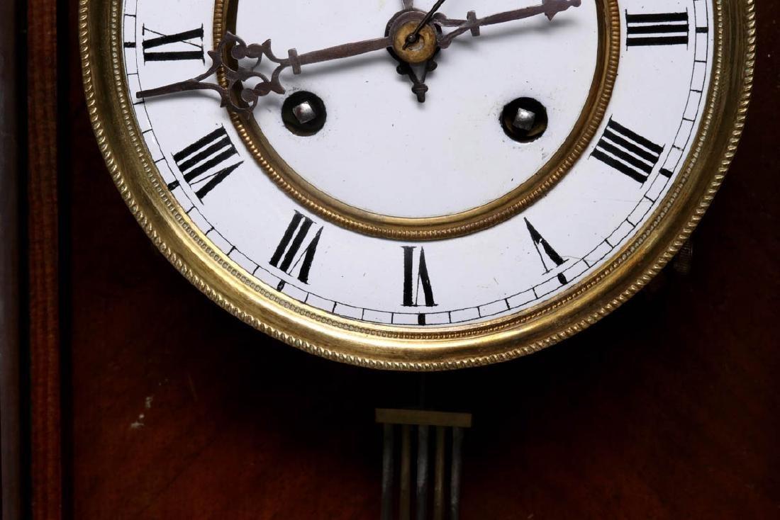 A VIENNA EIGHT-DAY REGULATOR WALL CLOCK - 9