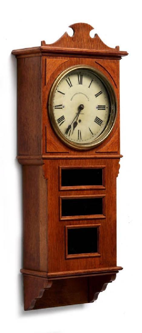A PRENTISS CALENDAR & TIME CO. WALL CLOCK AS FOUND - 10