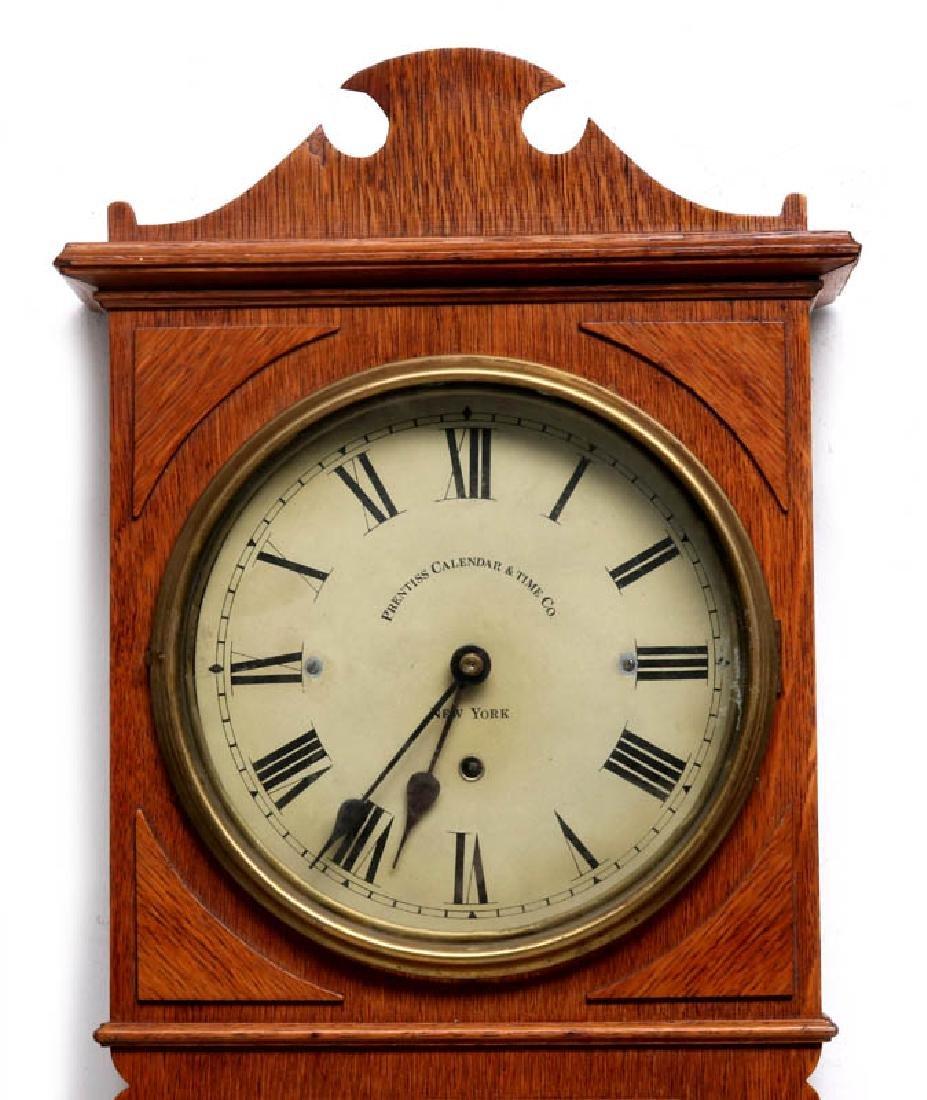A PRENTISS CALENDAR & TIME CO. WALL CLOCK AS FOUND - 2