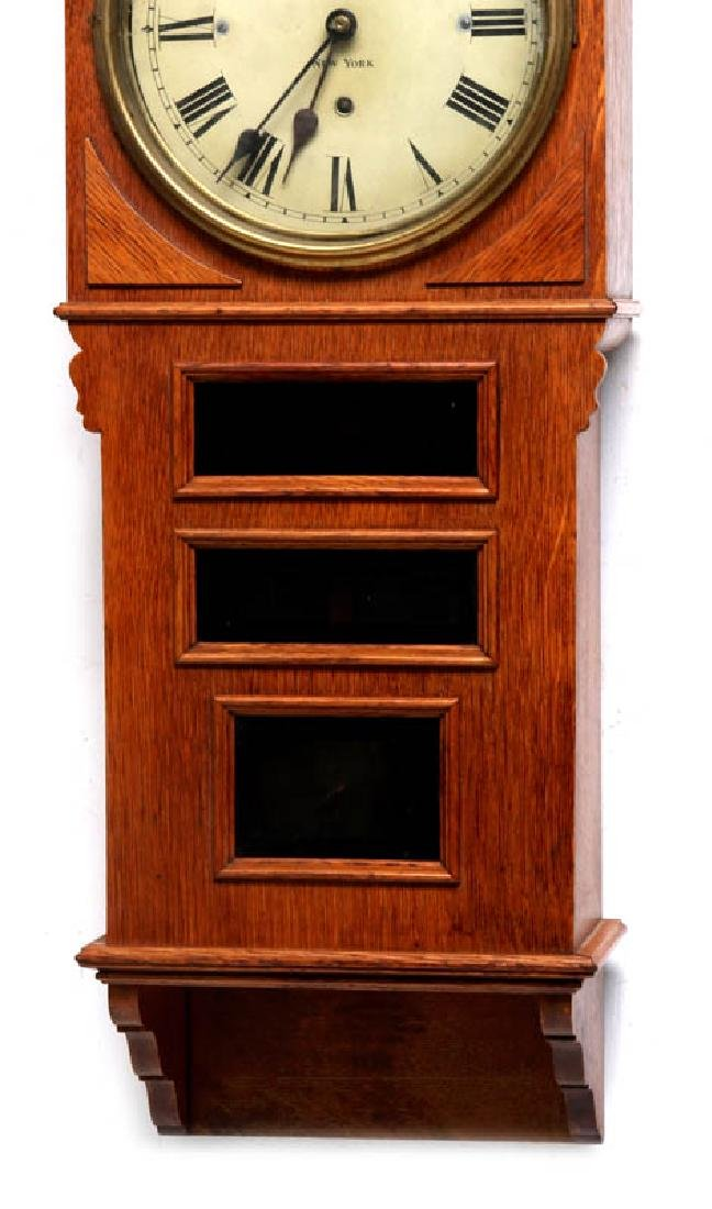 A PRENTISS CALENDAR & TIME CO. WALL CLOCK AS FOUND - 3