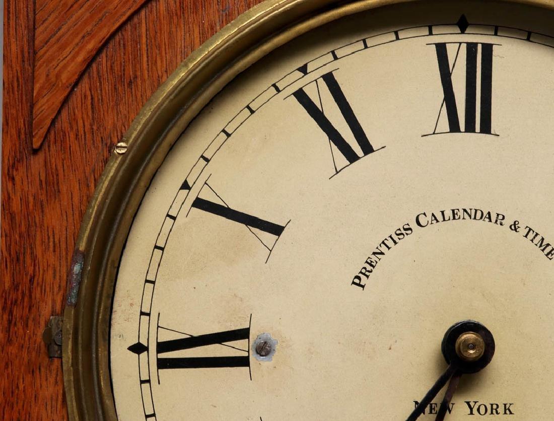 A PRENTISS CALENDAR & TIME CO. WALL CLOCK AS FOUND - 5