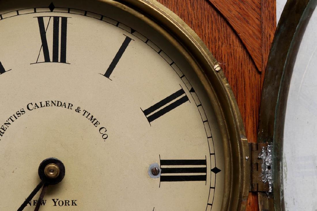 A PRENTISS CALENDAR & TIME CO. WALL CLOCK AS FOUND - 6