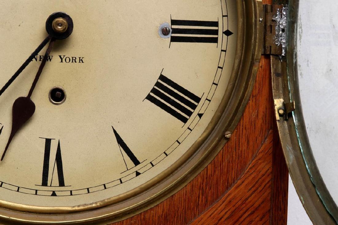 A PRENTISS CALENDAR & TIME CO. WALL CLOCK AS FOUND - 7