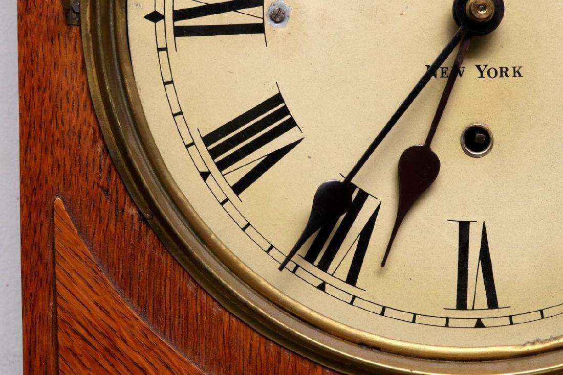 A PRENTISS CALENDAR & TIME CO. WALL CLOCK AS FOUND - 8