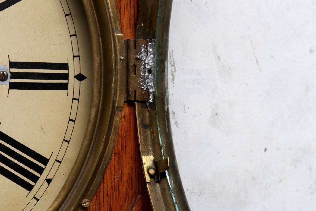 A PRENTISS CALENDAR & TIME CO. WALL CLOCK AS FOUND - 9