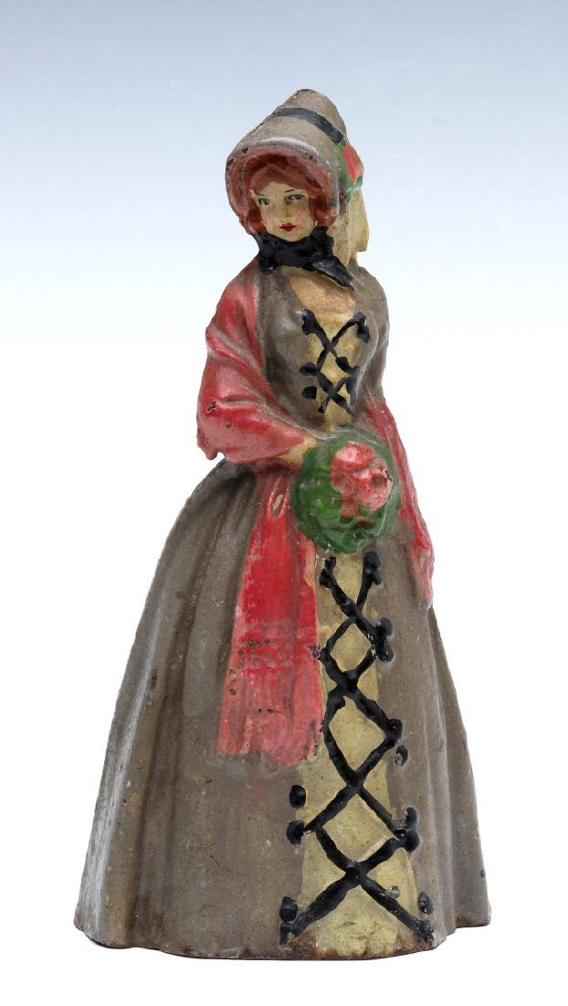 NATIONAL FOUNDRY VICTORIAN LADY CAST IRON DOORSTOP