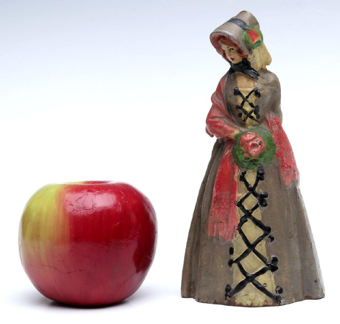 NATIONAL FOUNDRY VICTORIAN LADY CAST IRON DOORSTOP - 2
